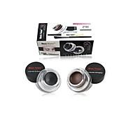 профессиональный два цвета (черный + коричневый) макияж водонепроницаемый подводка для глаз гель