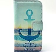 verankern Meer immer Muster pu Ledertasche mit Kartenhalter für Samsung Galaxy Trend Duos s7562