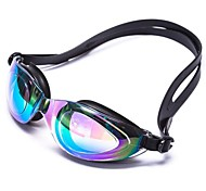 Unisex Mixed Color Silicone Anti-UV Mirror Coated Swimming Goggles G2800M