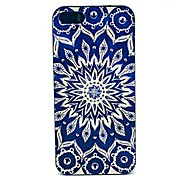 retro zonnebloem patroon pc harde case voor de iPhone 4 / 4s