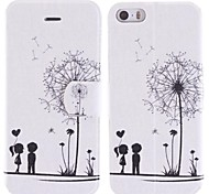 Dandelion and The Design of Lovers PU Full Body Case with Card Slot for iPhone 5/5S