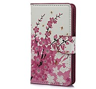 Mini Elegant Flower Pattern PU Leather Case with Magnetic Snap and Card Slot for Sony Xperia E C1605