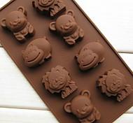 8 urso molde leão hippopotami animais bolo