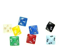 8 Sides 5 Piece Funny Humour Gambling Bar Dice Colorful Dice (Random Color)
