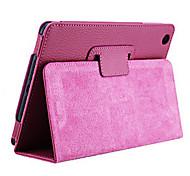 Solid Color Ultra-thin PU Leather Full Body Case for iPad mini 3, iPad mini 2, iPad mini(Rose)