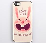 Lovely Rabbit Design Aluminum Hard Case for iPhone 4/4S
