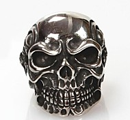 Z&X®  Men's Fashion And Personality Skull Titanium Steel Ring