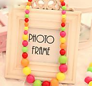 Fashion Multicolor Bead Cute Kid's Strands Necklace(1 Pc)