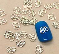 200шт сердце любовь дизайн ломтик металл украшение искусства ногтя