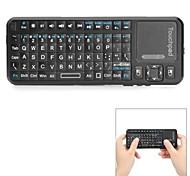 ipazzport KP-810-10BTT Mini Wireless Bluetooth V2.0 Rechargeable 82-Key Keyboard - Black
