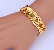 U7® High Quality 18K Chunky Gold Filled Twisted Figaro Link Chain Bracelet for Men Women