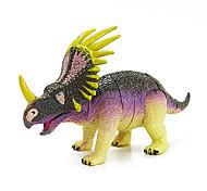 styracosaurus montagem de borracha modelo de dinossauro figuras de ação educacional brinquedo