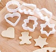 Animal Shape Plastic Biscuit Molds 6pcs