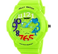 Skmei®Fashion Children Outdoor Sport Quartz Wrist Watch 3ATM Waterproof Assorted Colors