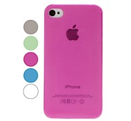 Solid Color Smooth Surface Ultra Thin Plastic Hard Case for iPhone 4/4S(Assorted Colors)