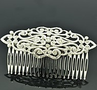 9cm Alloy and Rhinestone Women's Royal Style Small Hair Comb