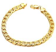 Fashion Classic Copper Plating Men 18 K Gold Bracelet