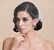 Véus de Noiva Uma Camada Véu Ruge / Véus de Rede Corte da borda 10-20cm Tule BrancoLinha-A, Vestido de Baile, Princesa, Bainha/Coluna,