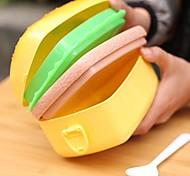Praça Hamburger Projeto Criança Plastic Lunch Box (x1pcs cor aleatória)