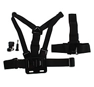 YuanBoTong  Gopro Accessory Kit with Chest Strap Headband J-type Base and Screws