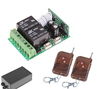 12V 2-Channel Wireless Remote Power Relay Module with Double Remote Controller (DC14V-AC125V)