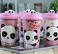 Cute Panda Ceramic Mug Cup with Lid  Random Pattern,9.3X6X14.5cm