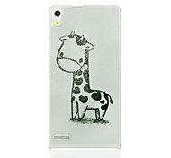 Black and White Deerlet Pattern Hard Case for Huawei Ascend P6