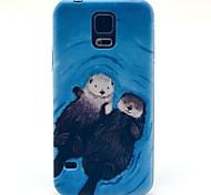 romantische Otter Liebhaber Muster harte Fallabdeckung für Samsung Galaxy i9600 s5