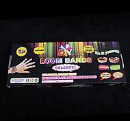 baoguang®for bandas telar arco iris de color telar set (600pcs bandas, 1 paquete de clips, 1 gancho, telares 1)