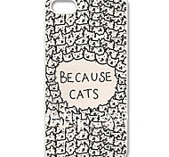 Per Custodia iPhone 5 Fantasia/disegno Custodia Custodia posteriore Custodia Gatto Resistente PC iPhone SE/5s/5