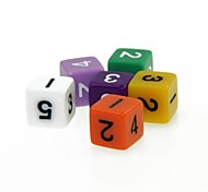 5 Piece Funny Humour Gambling Bar Dice Colorful Dice (Random Color)