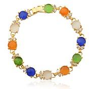 u7® Haute qualité AAA + zircone de luxe bracelets d'opale pour le cadeau des femmes de bijoux 18k véritable plaqué or