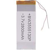 "Sostituzione universale 3.7V 2800mAh Li-polymer Batteria per 7 ~ 10 ""Sony Tablet PC Macbook Samsung Acer Apple (35 * 55 * 130)"