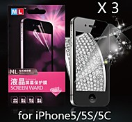 Diamond Anti-radiation Screen Protector for iPhone5/5S/5C(3PCS)