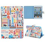 Cartoon Paiting Of New York Case for iPad mini 3, iPad mini 2, iPad mini