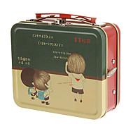 europäischen Stil Koffer Muster Metall Spieluhr Spielzeug