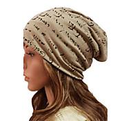 Для женщин Для женщин На каждый день Вязаная шапочка , Хлопок , Зима
