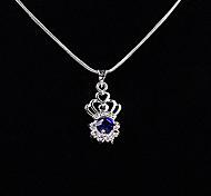 Dark Blue Rhinestone Crown Pendant(Pendant Only)