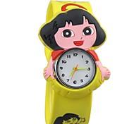 Kinder Lovery Dial Rubber Band Quarz-Armbanduhren
