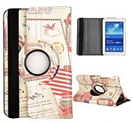 White Palace Pattern 360 Rotatable Auto Sleep/Wake Leather Case for Samsung Galaxy Tab 3 Lite T110