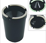 Carking™ Cup Shaped Shiny Finish Glow-in-the-Dark Car Ashtray-Black