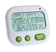 YuanBoTong 2,7 polegadas display LCD multifuncional Timer com Data e Hora e Alarme