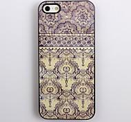 Elegantes blaues Blumenmuster Aluminium Hard Case für iPhone 4/4S