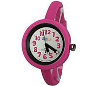 Children's Jelly Style Rubber Band Quartz Wrist Watch