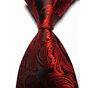 Men's Paisley Microfiber Necktie (9 Colors Avaliable)