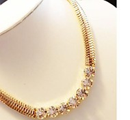 Metal Thick Diamond Chain Atmosphere Field Fashionable Short Necklace