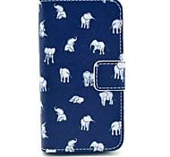 Indian Elephant Pattern PU Leather Full Body Case with Stand for iPhone 4/4S