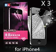 Diamond Anti-radiation Screen Protector for iPhone4/4S(3PCS)