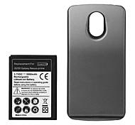 3800mah batterie de remplacement de haute qualité avec la batterie de couverture arrière pour Samsung Galaxy Nexus GT-i9250