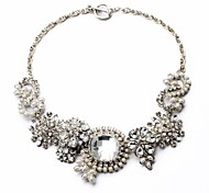 Silver / White / Clear Statement Necklaces Party / Daily Jewelry